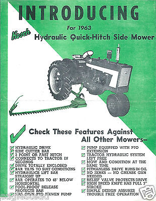 Equipment Brochure - Kosch - Quick-hitch Side Mower For Tractor - 1963 E2780