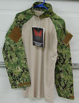 Military Crye Precision Combat Tactical Shirt Custom DRIFIRE AOR2 Camo Medium R