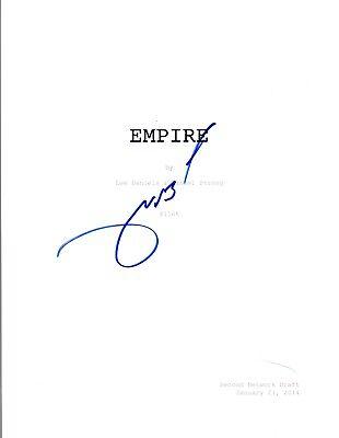 Terrence Howard Signed Autographed EMPIRE Pilot Episode Script COA VD (Empire Pilot Episode)