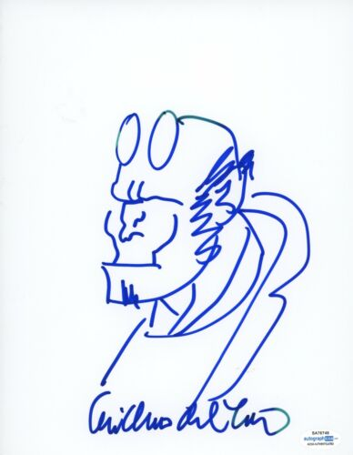 Guillermo Del Toro Hand Drawn Sketch Hell Boy Signed Autographed ACOA - $349.99