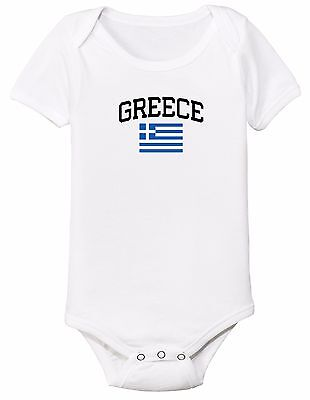 Greece Bodysuit Soccer Baby Outfit Mameluco Infant Girls Boys T-shirt - Greece Outfits