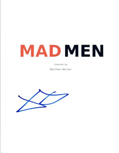 January Jones Signed Autographed MAD MEN Pilot Episode Script COA VD