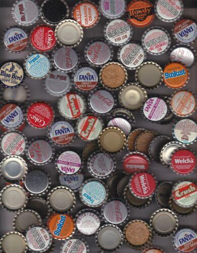 100   BOTTLE CAPS COKE TAB ORANGE SODA  COCA-COLA, ORANGE CRUSH, CORK UNUSED NOS
