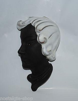 Cortendorf Wall Mask no. 531 Guido Riffarth Head Ceramics Rockabilly 50er Mask