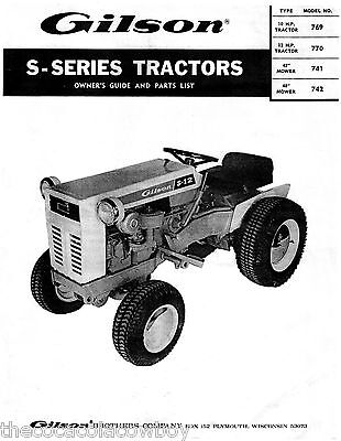Gilson S-Series WARDS Tractors Operators -Parts Manual