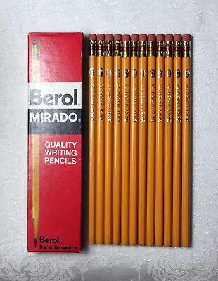 Twelve Berol Mirado 174 No.2 Pencils