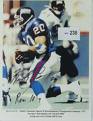 Keith Elias Original Autographed Color Photograph NFL NY Giants