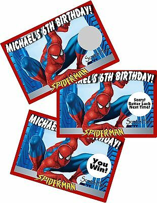 Spiderman Birthday Favors (SPIDER-MAN SPIDERMAN SCRATCH OFFS PARTY GAMES GAME CARDS BIRTHDAY)