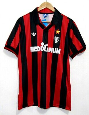 AC Milan 90-91 Home Shirt Van Basten Gullit Rijkaard Maldini Baresi Sizes: S & M