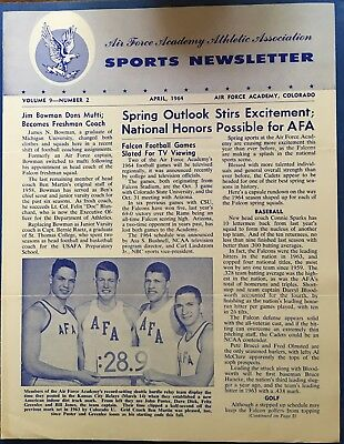 1964 Air Force Academy Sports Newsletter April Issue