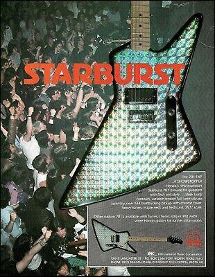 Hondo Starburst 781 EXP vintage guitar 1983 ad 8 x 11 advertisement print