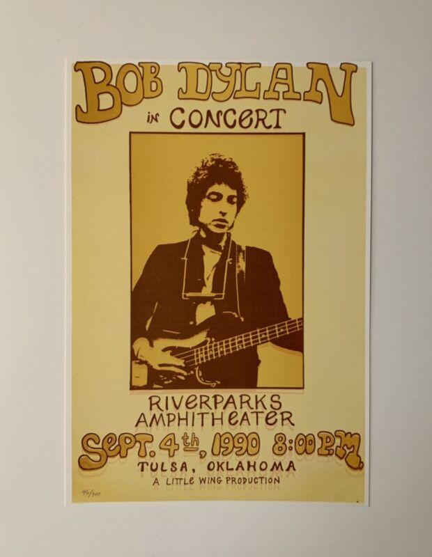 Bob Dylan Concert Riverparks Amphitheater Original 1990 Concert Poster Numbered