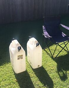20 lt Water cans and camp chair Brassall Ipswich City Preview