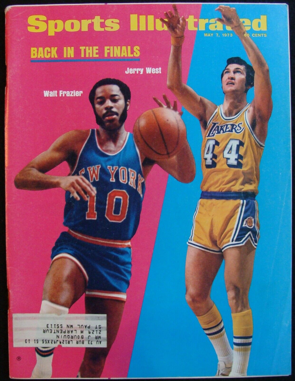 MAY 7, 1973 SPORTS ILLUSTRATED - WALT FRAZIER JERRY WEST NBA FINALS - $7.50