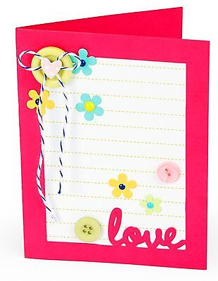 Sizzix Framelits Card with Lovely Sentiments Drop-ins #660143 Retail $29.99 14pk