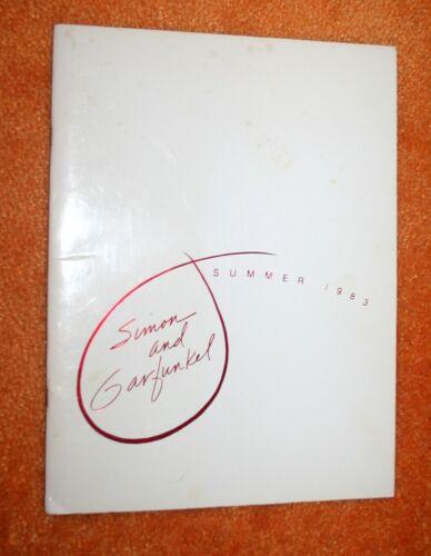 SIMON & GARFUNKEL SUMMER 1983 PROGRAM PLUS 6 PRIVATE PHOTOS