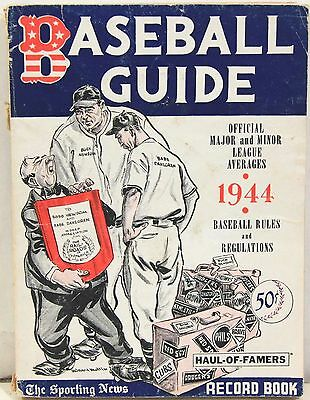 1944 Edition of The Sporting News Baseball Guide Record Book and Rules