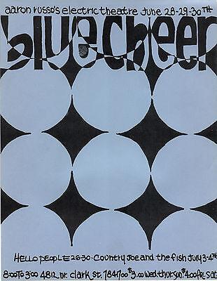 FILMORE ERA Electric Theatre BLUECHEER Chicago HANDBILL 1968