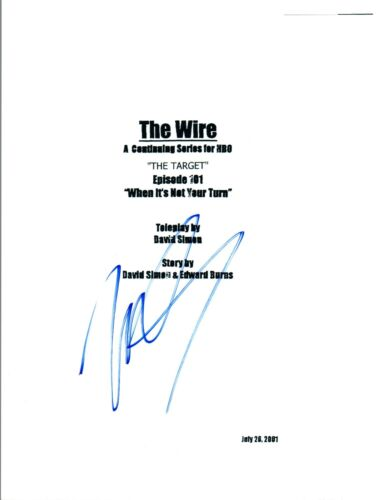 Michael B Jordan Signed Autographed THE WIRE Pilot Episode Script COA AB