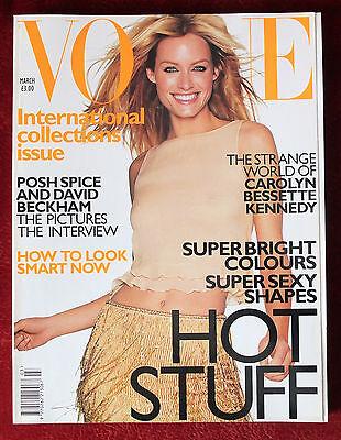 Vogue British ~ March 1999 ~ Amber Valletta Victoria & David Beckham
