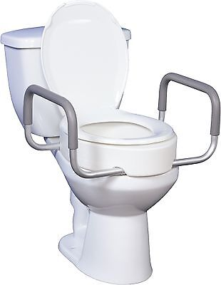 Drive Premium Raised Toilet Seat With Removable Arms For ...