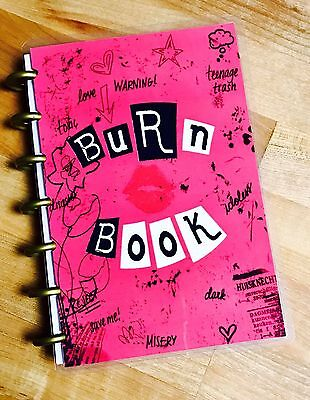 Burn Book Mean Girls Cover Set For Use W Mini Happy Planner