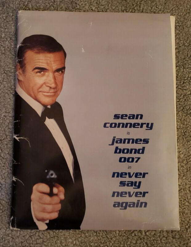 """1983 """"NEVER SAY NEVER AGAIN"""" 007 MOVIE PRESS KIT With (17) Photo"""