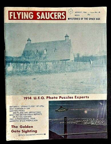 FLYING SAUCERS MAGAZINE Mysteries of the Space Age Aug 1966 # 48 UFO Mariner IV