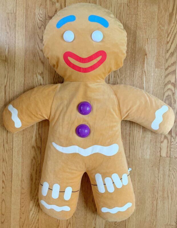 """Gingey"" SHREK THE THIRD Gingerbread Man Beanbag Soft Figure 46"" Tall by Nanco"