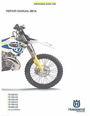 Husqvarna workshop service manual 2014 TE 250 US, TE 250 EU & TE 250 AU
