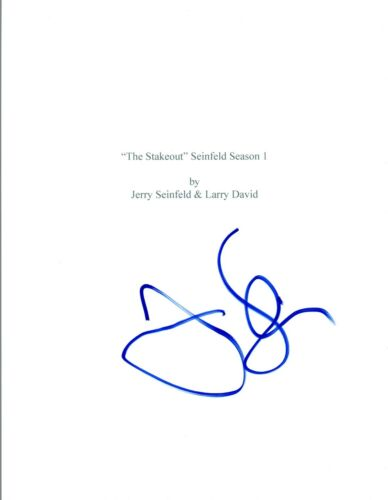 Jerry Seinfeld Signed Autographed SEINFELD The Stakeout Episode Script COA VD