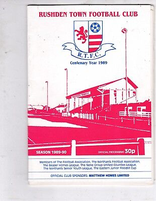 RUSHDEN TOWN  V SPALDING UNITED SOUTHERN LEAGUE   13/2/90