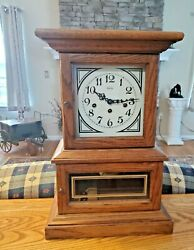 1979 Ridgeway Mantel Clock Franz Hermle 341-020 Movement Westminster Chime