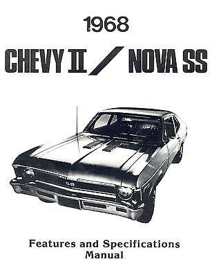 1968 68 Chevrolet Nova/ Ss Illustrated Facts