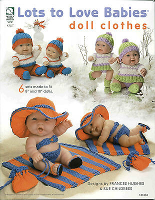 Lots To Love Babies Doll Clothes Kit 6 Sets For 8 & 10 Dolls Pattern Book