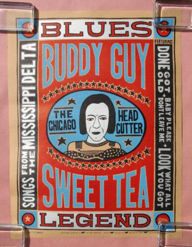 BUDDY GUY Sweet Tea PROMO POSTER Chicago Head Cutter SILKSCREEN #1395/3000 BLUES