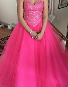 Pink grad Ball Gown size 6