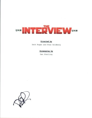 Randall Park Signed Autographed THE INTERVIEW Movie Script COA VD