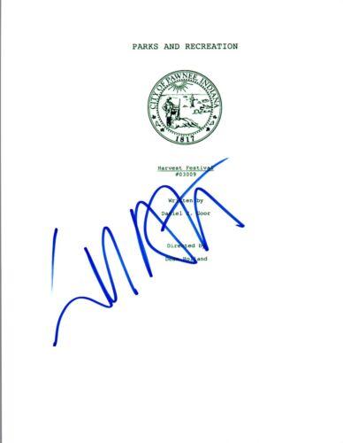 Will Arnett Signed Autographed PARKS AND RECREATION Harvest Festival Script VD