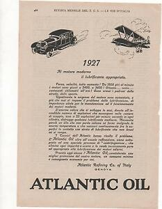 Pubblicita-epoca-1927-ATLANTIC-OIL-AUTO-OLIO-old-advert-werbung-publicite-reklam
