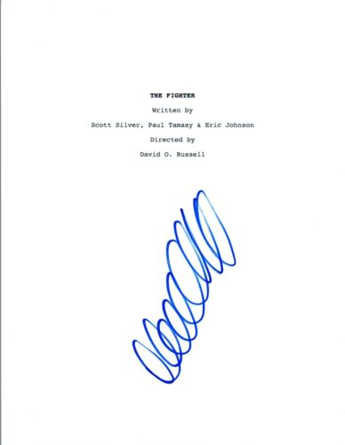 David O. Russell Signed Autographed THE FIGHTER Movie Script COA VD