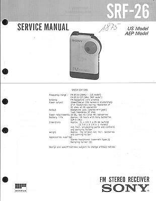 Sony Original Service Manual  für SRF-26