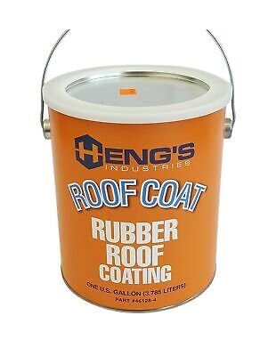Hengs Rubber Roof Coating - 1 Gallon Designed For Use Over Rv Rubber Roofs