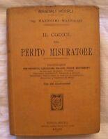 Manuale Hoepli Perito Misuratore - Anno 1900 - 1° Edizione - Mazzocchi -  - ebay.it
