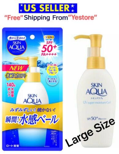 Rohto Mentholatum Skin AQUA UV Super Moisture Gel 140g SPF50+PA++++ Waterproof