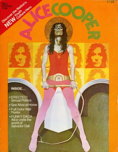 ALICE COOPER 1973 BILLION DOLLAR BABIES TOUR CONCERT PROGRAM MAGAZINE W/POSTER