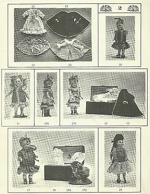 "FRENCH GERMAN MIGNONETTE  5""-8"" DOLL DRESS WARDROBE PATTERNS  BRU JNE ALL BISQUE"