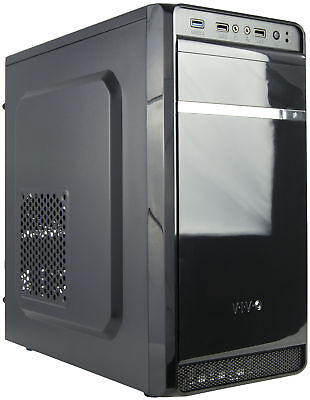 VIVO Micro ATX Mini Tower Computer Gaming PC Case Black / 3 Fan Mounts, USB 3.0