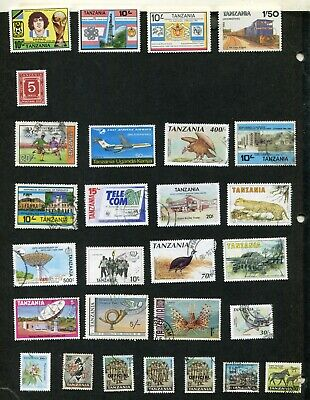 STAMP LOT OF TANZANIA, MNH AND USED (2 SCANS)