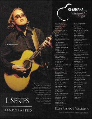 Joe Bonamassa Yamaha L Series acoustic guitar dealers list 8 x 11 advertisement